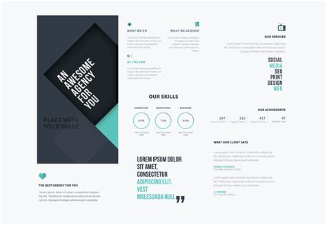 photoshop template brochure 50 freebies for web designers june 2015