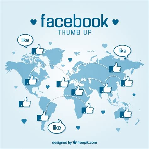 facebook layout vector free download facebook thumb up background vector free download