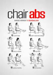 Desk Chair Workout 25 Best Ideas About Chair Exercises On Ab