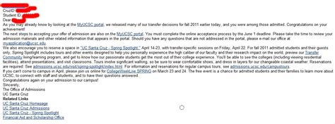 College Acceptance Letter Through Email i got accepted also a interesting something in zilvern s