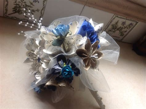 origami flower wedding bouquet kusudama wedding bouquet includes 8 origami flowers