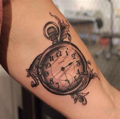 peter tattoo bandung pocket watch tattoo tats pinterest pocket watch