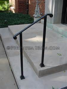 Single Stair Handrail Perpetua Iron Simple And Functional Railing Page