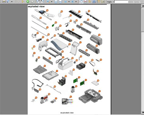 reset hp officejet j6480 all in one amazing hp officejet 4500 parts diagram images best