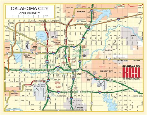 oklahoma city map oklahoma city key maps