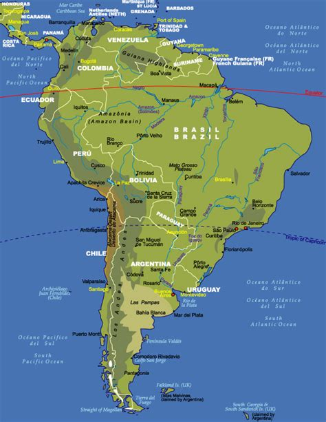 interactive map of south america physical features atlas and maps globes maps of the world