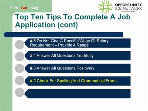 10 Tips On How To Start Working by Applications Top Ten Tips