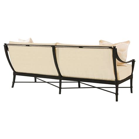 modern sailcloth sand metal outdoor sofa