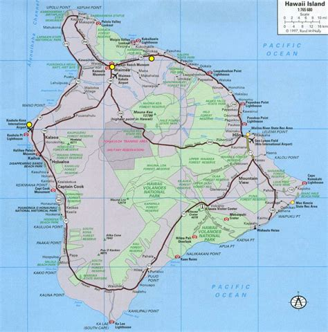 printable road map of big island hawaii popular 230 list big island hawaii map