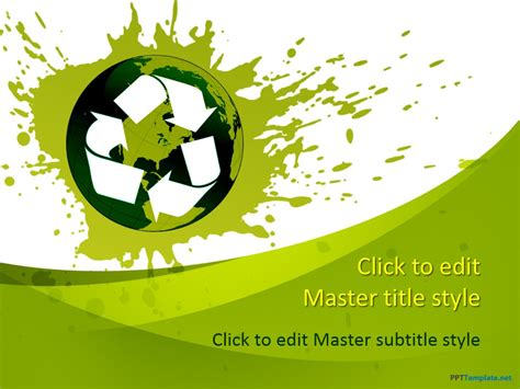 recycling powerpoint free recycle ppt template