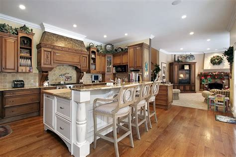 Tiered kitchen island designs with seating of a tiered kitchen island