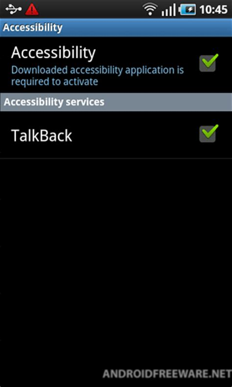talkback android talkback free android app android freeware