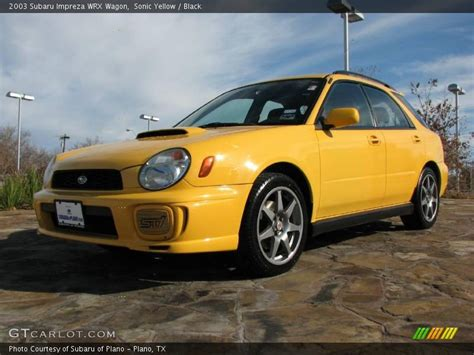 yellow subaru wagon 2003 subaru impreza wrx wagon in sonic yellow photo no