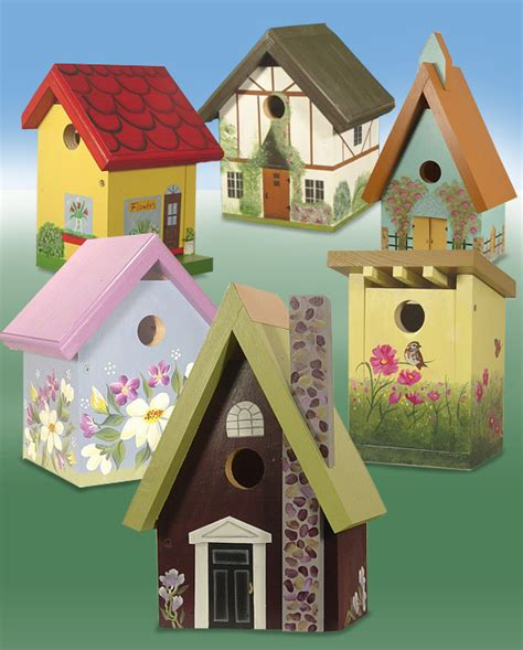 the backyard naturalist s bird houses painted made in usa