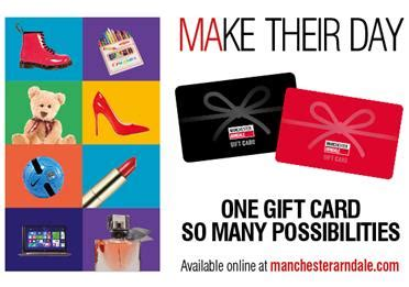 Manchester Arndale Gift Card - christmas events visit manchester