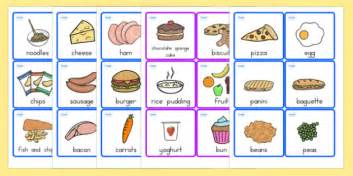 Food Gift Card - food cards food food words word cards flashcards visual