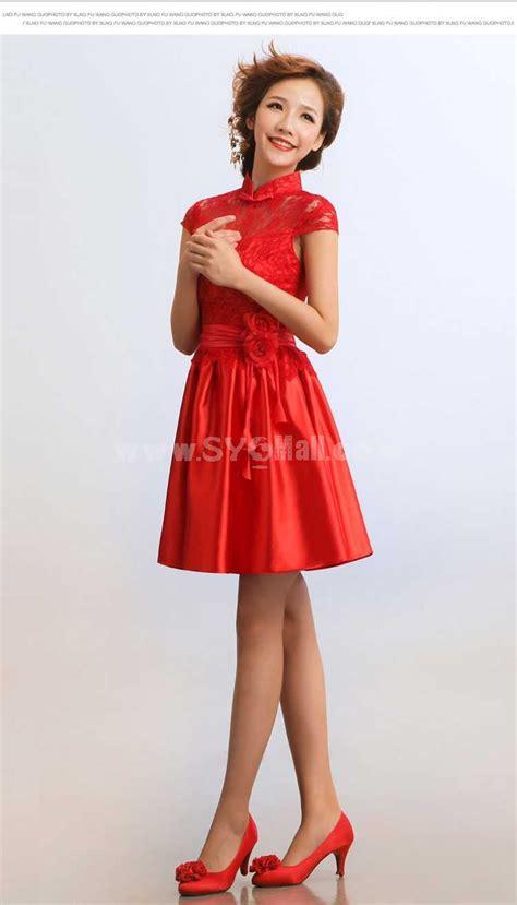 Mandarin Collar Sleeve Dress mandarin collar sleeve knee length cheongsam
