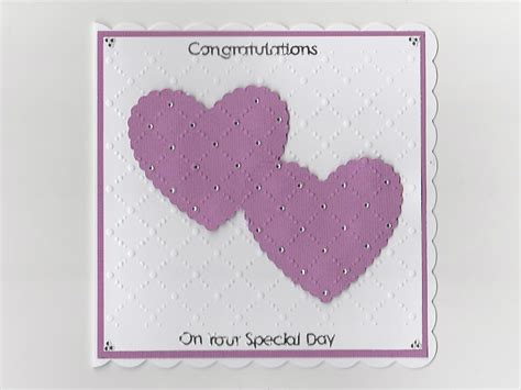 Special Handmade Cards - congratulations on your special day handmade card