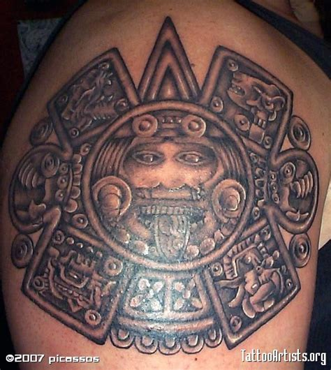 aztec calendar tattoo calendario azteca artists org