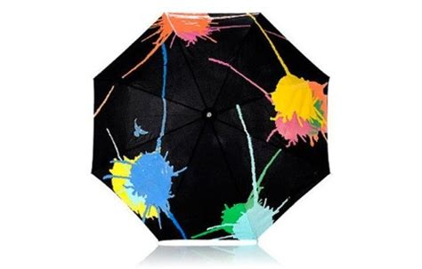 pattern changing umbrella adding colour to raining days the paint splatter pattern