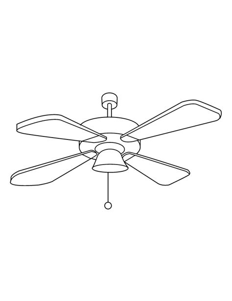 ceiling fan coloring page coloring pages