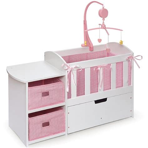 doll crib with storage dresser and trundle drawer badger