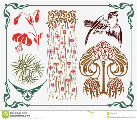 art nouveau element stock images image 15384024