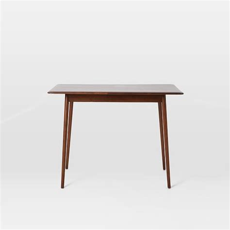 small mid century dining table lena mid century dining table small west elm