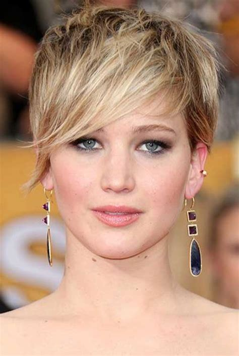 2014 short hairstyles for round faces jennifer lawrence short hair jennifer lawrence pixie cut 2014 pixie cut 2015