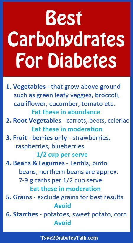 carbohydrates for best carbohydrates for diabetes diabetes meal plans