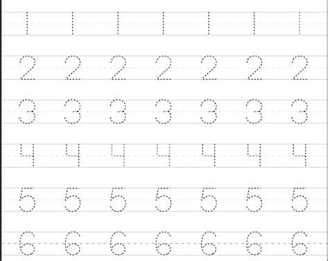 Latihan Menulis Angka worksheet belajar menulis untuk anak pra sekolah