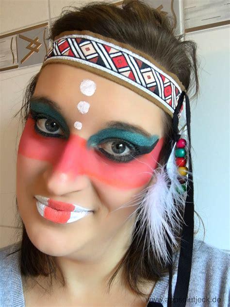 Karneval Schminken Indianer by Schminktipp Indianerin Appsolut Jeck