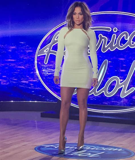 Jlo Psyched About American Idol by In Mugler At American Idol Denver Auditions