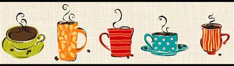 Kitchen Wallpaper Borders Ideas 114175 Coffee Cups Wallpaper Border