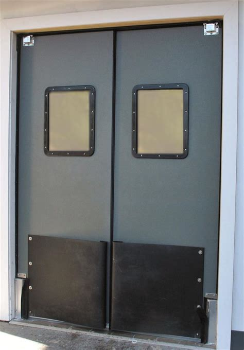 traffic swinging doors supermarket traffic swing doors warehouse impact swinging