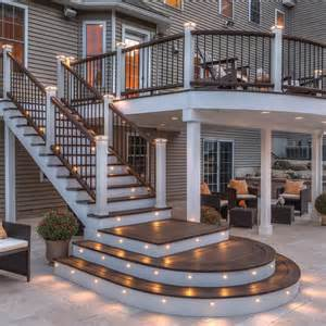 deck to deck deck lighting ideas to get warm and cozy