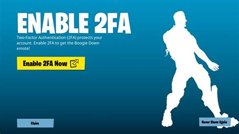 fortnite   enable fa  factor authentication