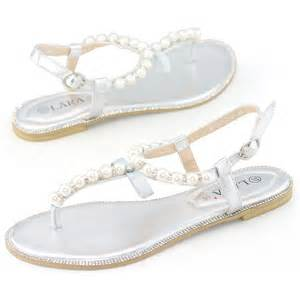 Silver Flat Sandals For Bridesmaids by Womens Wedding Flats Bridesmaids Bridal Prom Dress Silver