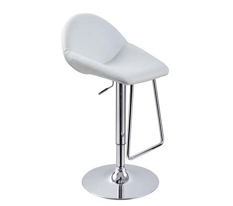 t1048 eco leather white contemporary bar stool dreamfurniture com t1138 eco leather contemporary bar