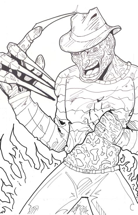 Freddy Krueger Coloring Pages freddy krueger coloring pages az coloring pages