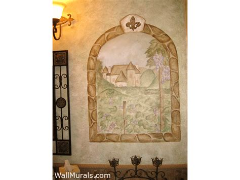 wine theme wall murals vineyard murals
