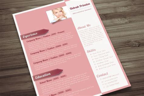 A Sophisticated Cv For Ladies Pink Lemonade Pink Resume Template Free