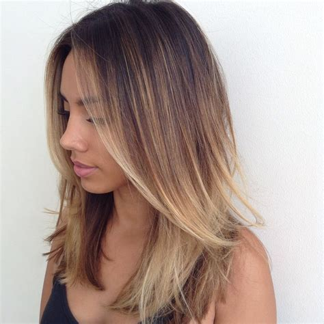 straight sholder length ombre hair 30 straight medium length layered haircuts 2018