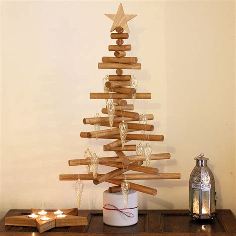 oak christmas tree by a b furniture notonthehighstreet com