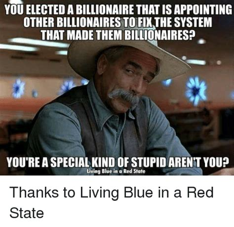 Are You Stupid Meme - you elected a billionaire thatisappointing other