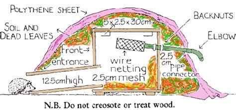 hedgehog house design hedgehog bottom rescue build a hedgehog house