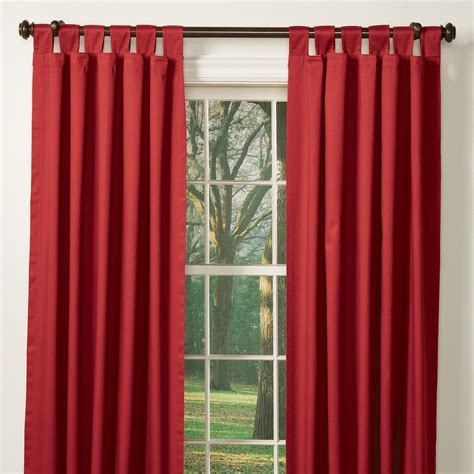 Outdoor Winter Curtains with Solid Insulated Tab Curtains Sturbridge Yankee Workshop