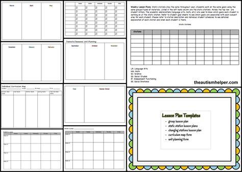 autism lesson plan template btse must forms templates the autism helper