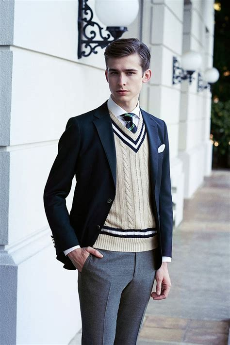 mens preppy style matching suggestions of men s sweater vests men fashion hub