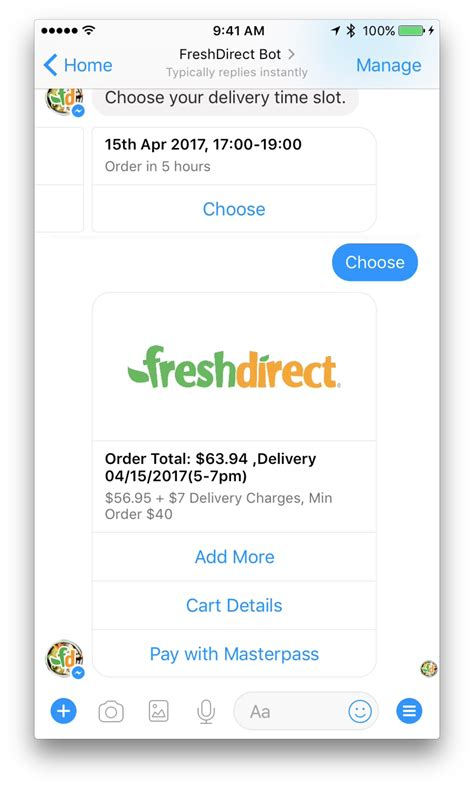 Fresh Direct Gift Card - mastercard sees facebook messenger as commerce bot vehicle for masterpass zdnet